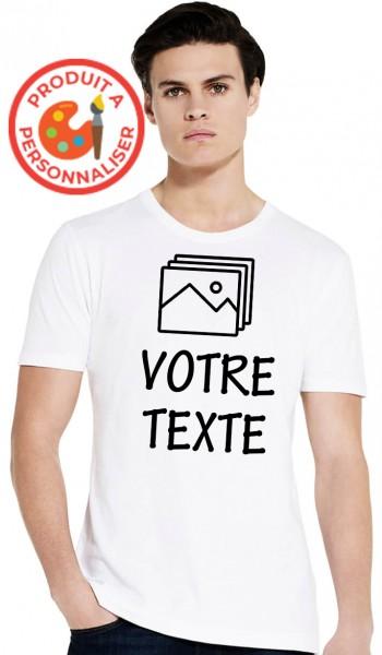 T-shirt Blanc Homme à...