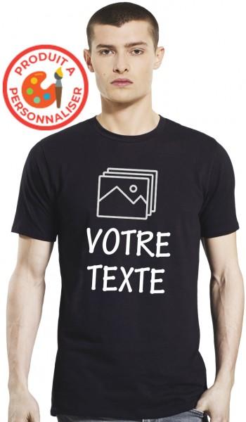 T-shirt Noir Homme à...